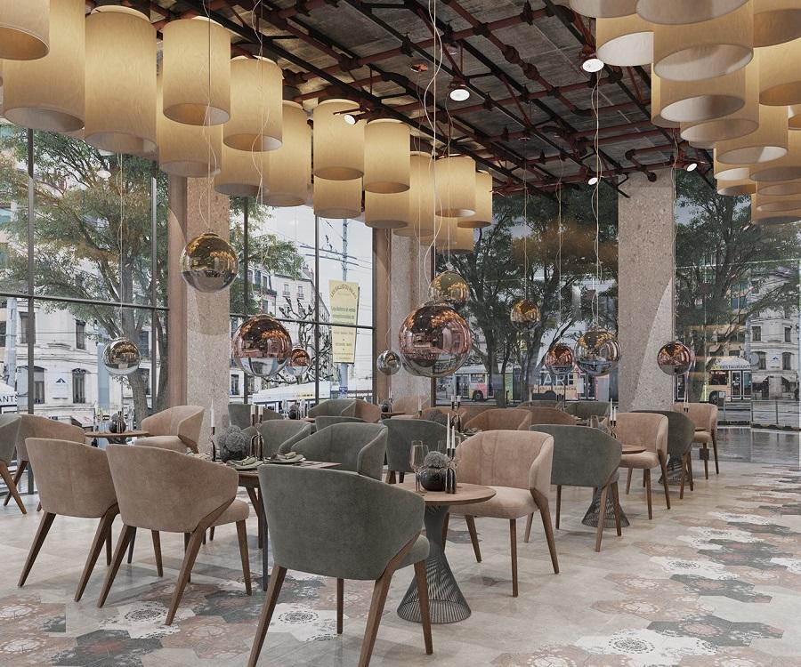 Gợi ý những mẫu thiết kế nhà hàng cao cấp ấn tượng thu hút thực khách