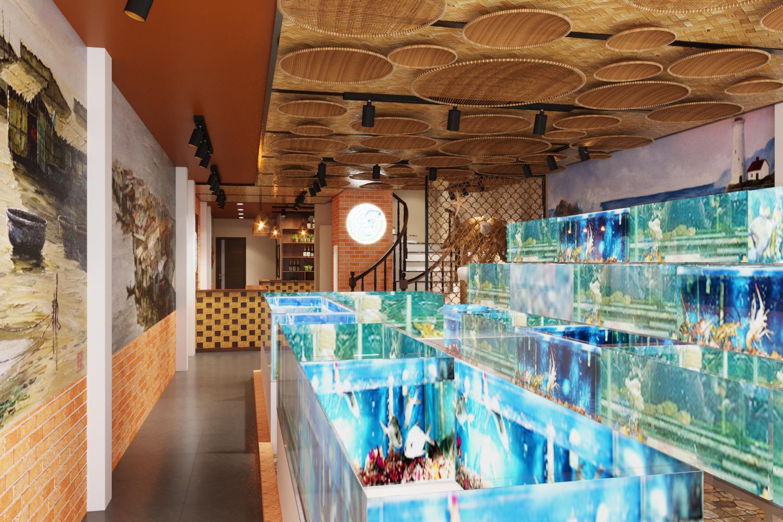 Nhà hàng hải sản Giãy Đành Đạch 90 Vũ Phạm Hàm - Trung Kính - Hà Nội