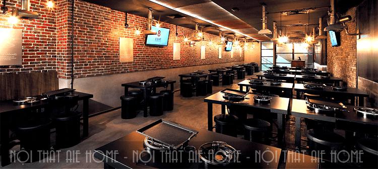 Những mẫu thiết kế nội thất nhà hàng Hàn Quốc đốn tim thực khách