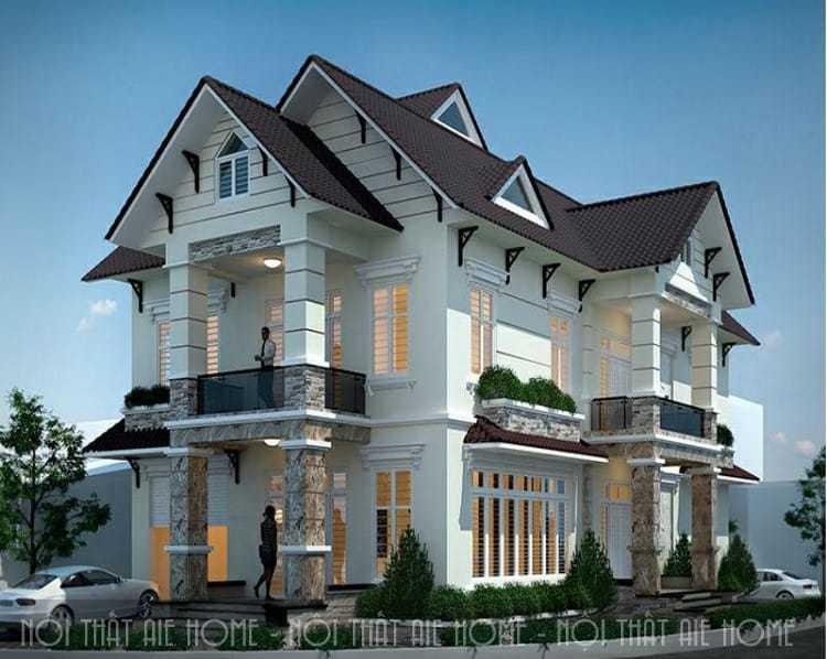 5 lưu ý để có một bản thiết kế biệt thự 2 tầng 2 mặt tiền như ý