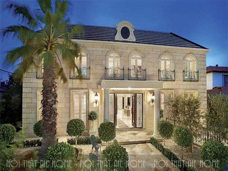 Những mẫu thiết kế biệt thự hai tầng kiểu Pháp đẹp nhất