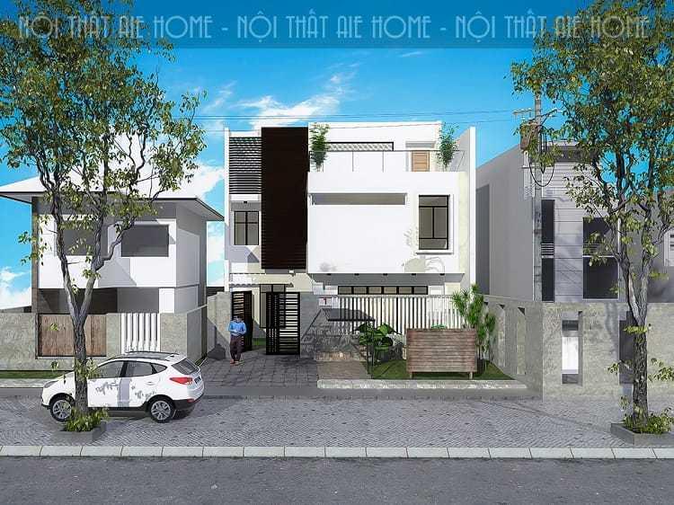 Thiết kế biệt thự 2 tầng mái bằng - không gian sống hiện đại ngày nay