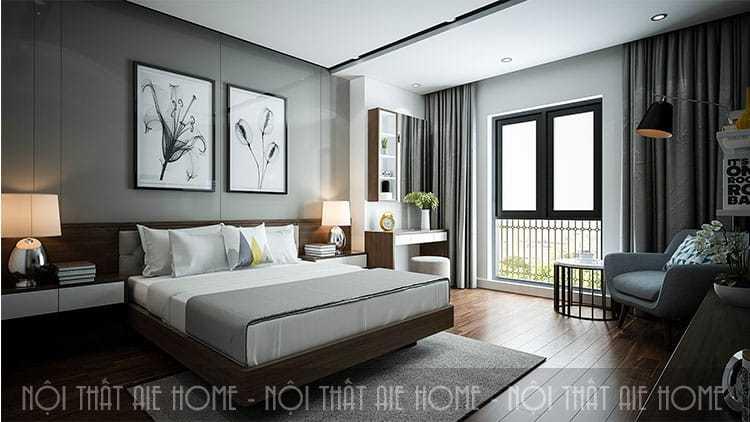 Thiết kế căn hộ chung cư 50m2 tiện nghi cho vợ chồng trẻ