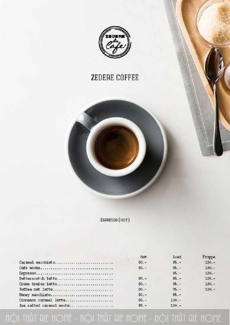 Tổng hợp những mẫu thiết kế menu quán cafe ấn tượng nhất hiện nay