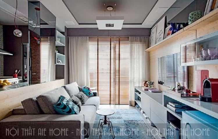 Thiết kế nội thất nhà chung cư 55m2 với diện tích khiêm tốn vẫn đẹp như mơ
