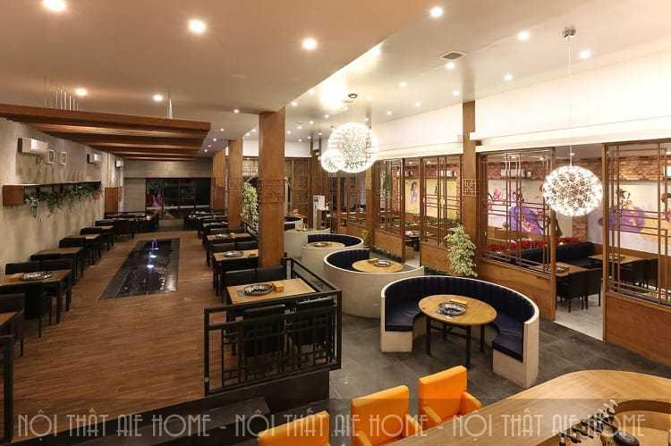 Ý tưởng thiết kế nhà hàng 2 tầng sang trọng - cuốn hút - tiết kiệm