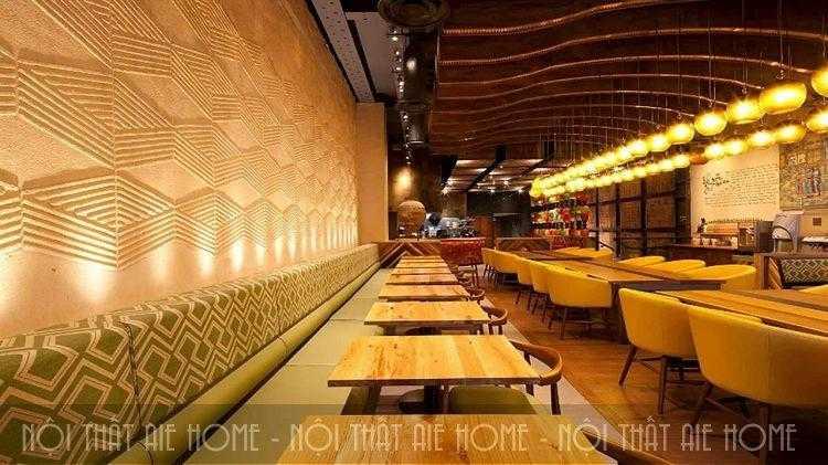 Ngất ngây với những mẫu thiết kế nhà hàng gỗ đẹp kiêu sa, lộng lẫy
