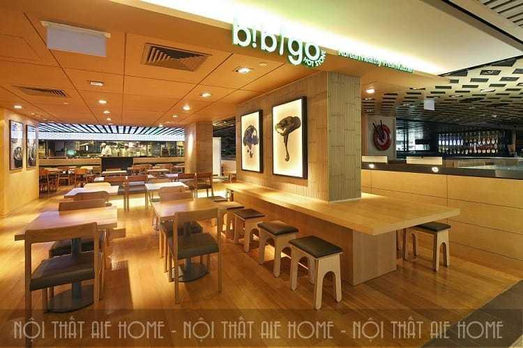 Thiết kế nhà hàng Hàn Quốc vạn người mê