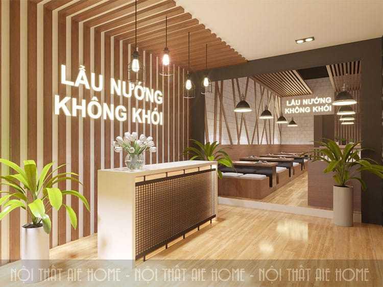 Thiết kế nhà hàng lẩu nướng - Mộc Châu, Sơn La