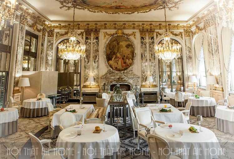 4 tuyệt chiêu thiết kế nhà hàng Pháp tiêu chuẩn Châu Âu cuốn hút
