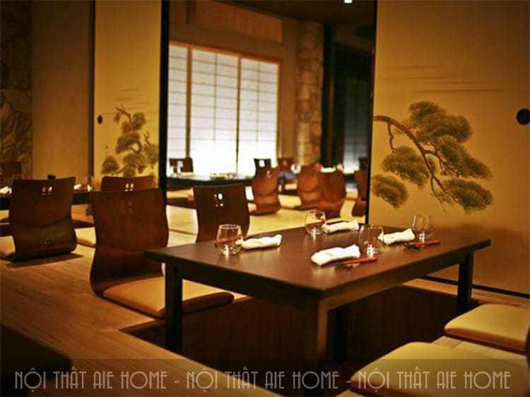 Nguyên tắc thiết kế nội thất nhà hàng Nhật Bản độc đáo lạ mắt