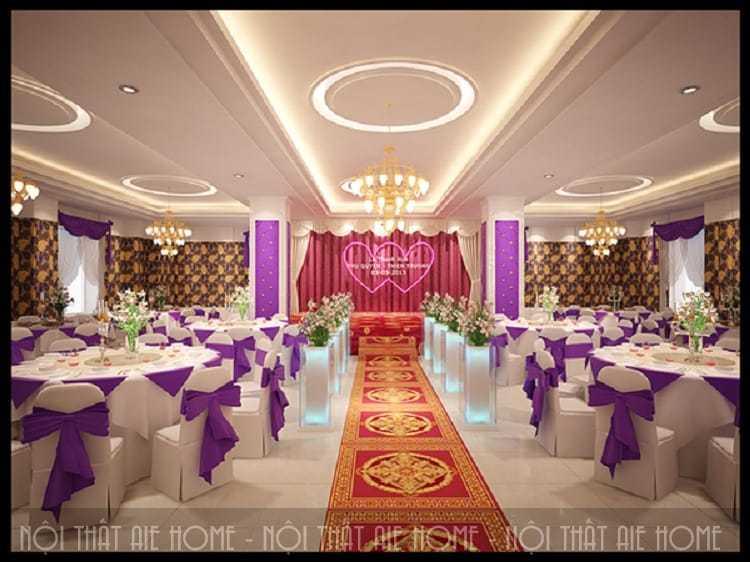 Tổng hợp những mẫu nhà hàng tiệc cưới hot nhất hiện nay