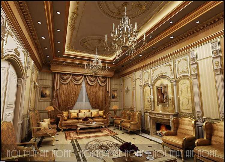 Phong cách thiết kế biệt thự cổ điển đẹp đến từng chi tiết