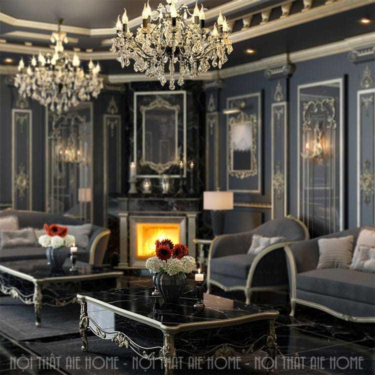 Thiết kế nội thất biệt thự tân cổ điển - Anh Vinh, Mỹ Đình HN