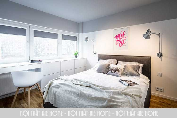 """Thiết kế nội thất căn hộ chung cư nhỏ 40m2 đẹp """"vạn người mê"""""""