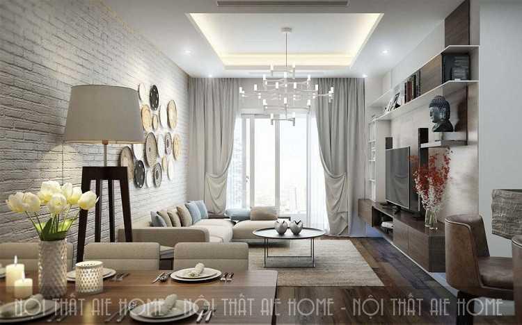 Tuyệt chiêu thiết kế nội thất chung cư 63m2 đẹp đốn tim người nhìn
