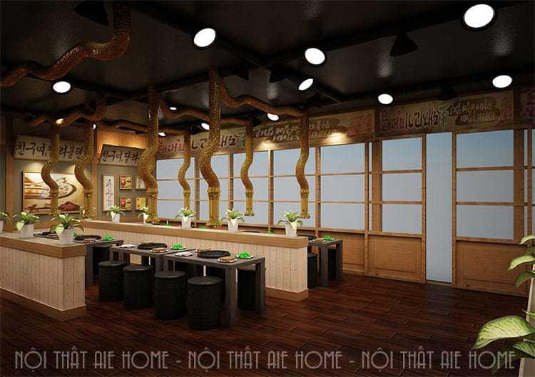 Những lưu ý cần biết khi thiết kế nội thất nhà hàng Hàn Quốc