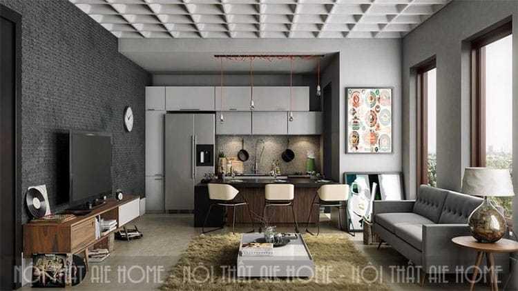 Mẹo thiết kế nội thất phòng bếp chung cư đẹp, tiện nghi cho gia đình trẻ