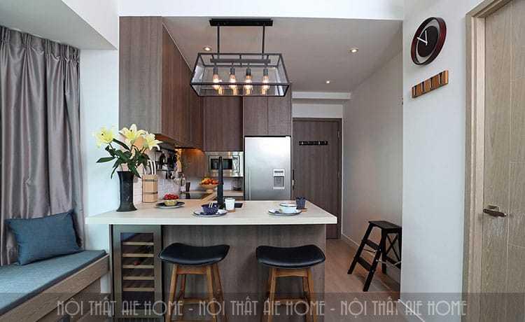 Mẹo thiết kế nội thất phòng khách rộng rãi cho căn hộ chung cư 45m2