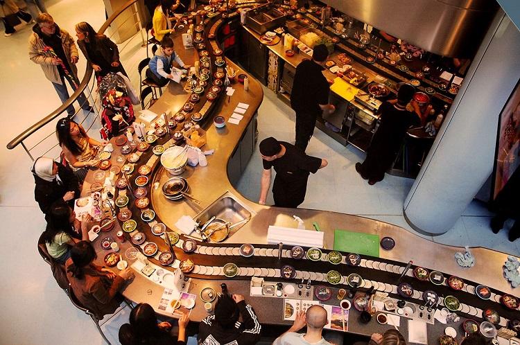 Thiết kế nhà hàng lẩu băng chuyền - 10 nhà hàng đẹp nhất