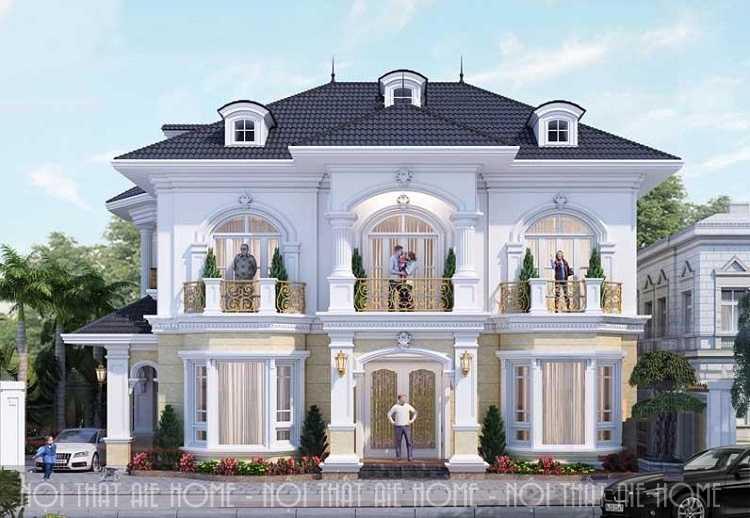 Bí quyết thiết kế biệt thự 2 tầng cổ điển đẳng cấp và sang trọng