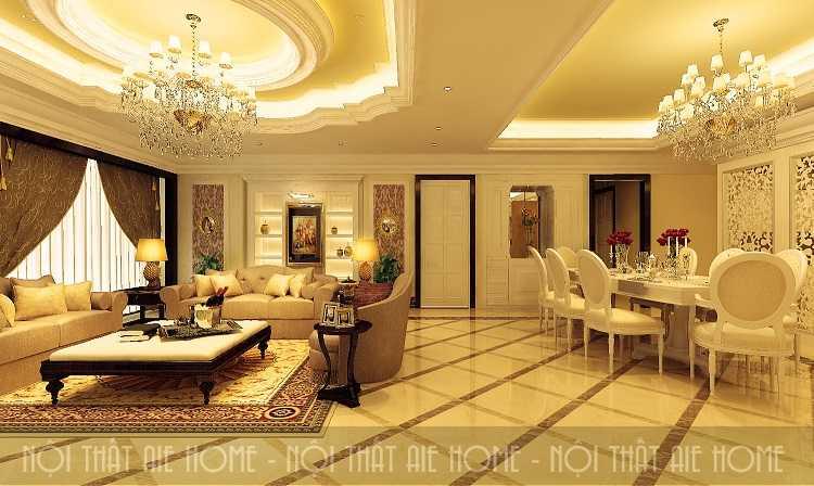Thiết kế nội thất chung cư cổ điển đầy cuốn hút